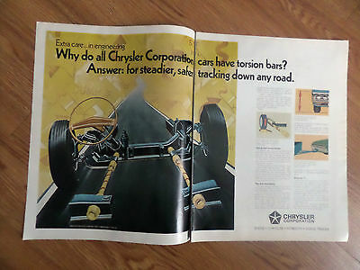 1971 Chrysler Dodge Plymouth Ad Why Cars have Torsion Bars?