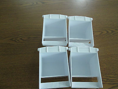 Plastic dish food/water Hoei replacement cup for bird cages made in USA set of 4