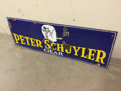 Vintage Peter Schuyler Cigar Sign