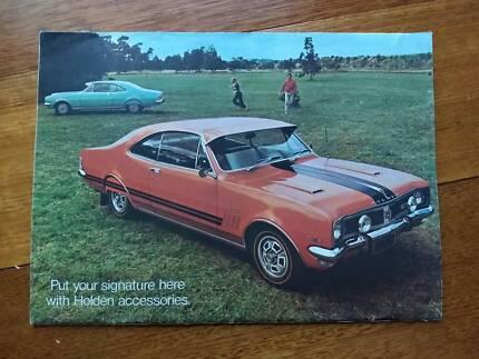 Original Holden HT Monaro and Kingswood accessories brochure 1969