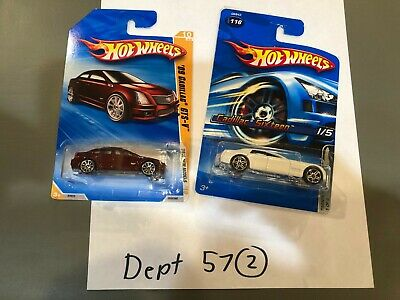 HOT WHEELS 2010 NEW MODELS '09 CADILLAC CTS-V BLACK and Caddy sixteen