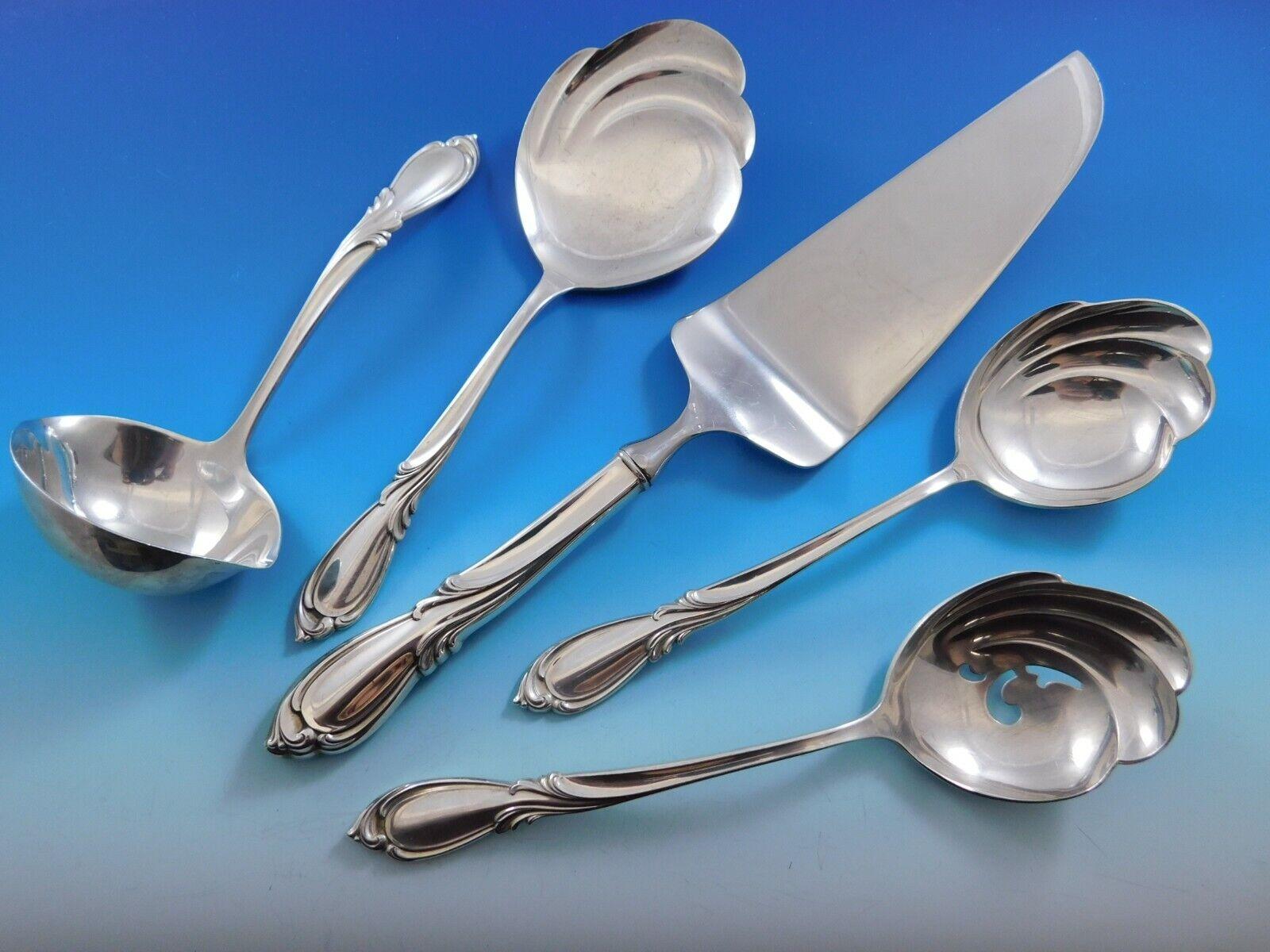 """Rhapsody New by International Sterling Silver Serving Spoon 8/"""""""