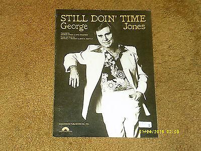 still doin time jones george 1981 piano vocal sheet music