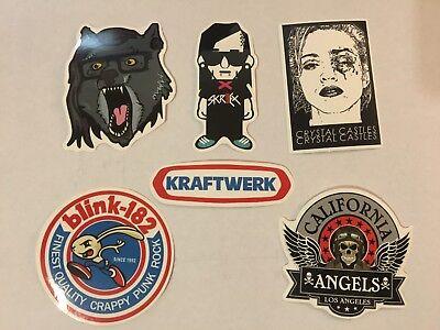 Electronic Rock Stickers Skrillex, Crystal Castles, Kraftwerk, blink-182, + MORE