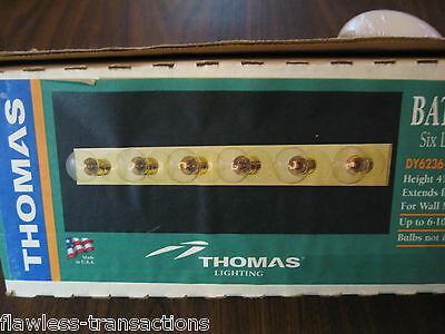 Thomas Beleuchtung Wand (Thomas Beleuchtung DY6236-1 Messing Poliert 6 Licht Wandhalterung Bad Neu)