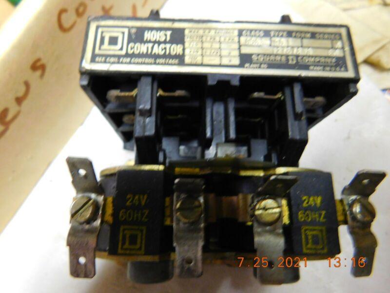 SQUARE D HOIST CONTACT 1273V/8A  24 VOLT COIL   PH, 230 V/1.5 PH/3PH, 8965