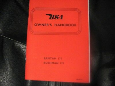 BSA Bantam Supreme, Sports, Bushman D14 Instruction Manual 1969 BH19A 00-4155