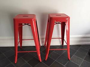 Freedom Furniture Red Metal Stools Rozelle Leichhardt Area Preview