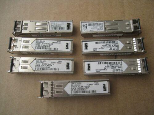 Lot Of 7 Cisco Glc-sx-mm Sfp 30-1301-02 Transceiver Modules
