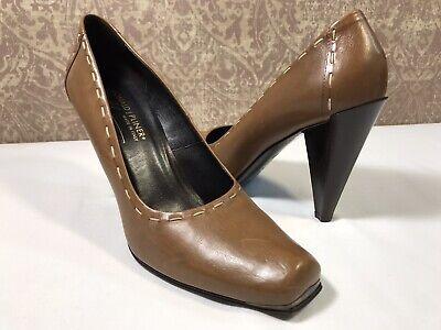DONALD J PLINER Berri Women's BROWN Leather High Heel Classic Dress Pump 9.5M US Donald J Pliner High Heel Pumps