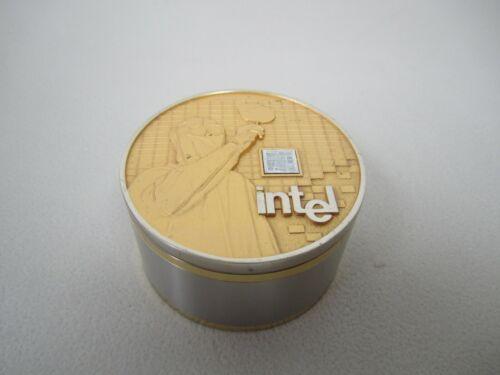 Vintage 1993 Intel 80286 CPU Employee Clock / Paperweight 15 Year Award