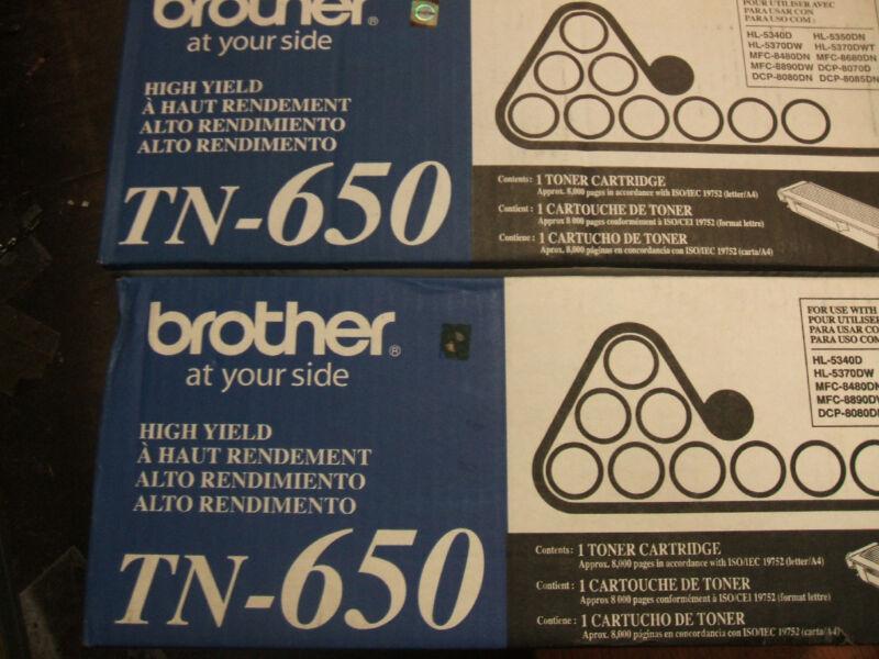 2 pack brother tn 650 genuine oem tn650 open box ne7
