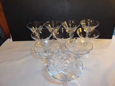 CAPRICE CRYSTAL WINE GLASSES BY CAMBRIDGE GLASS CO. ~ 17 AVAILABLE ~ EXCELLENT Caprice Crystal