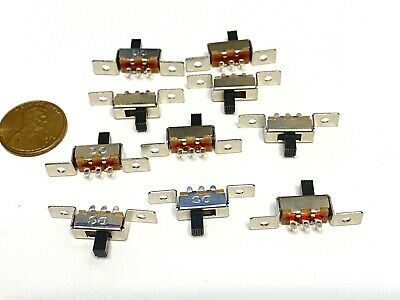10 Pieces 3 Pin 2 Position 1p2t Spdt Panel Slide Switch 50v Dc Ss12f48 Pcb C41