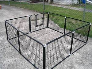 BRAND NEW Pet Dog  Encl Fence Play Pen-61cmx8 PANEL-FREE COVER Kingston Logan Area Preview