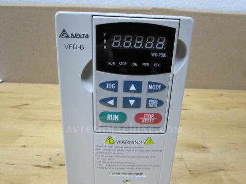 Delta Inverter VFD007B43A AC Variable Frequency Drive VFD-B 1HP 3 Phase 460V