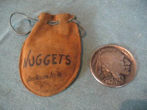 jackson hole souvenir nugget pouch ,large buffalo nickel