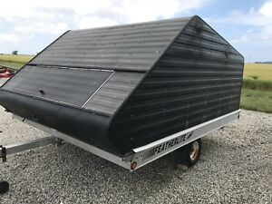 2 bed enclosed snowmobile trailer