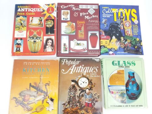 Lot of (6) Antiques & Collectibles Book Guides: Toys, Glass, Kitchen, Flea