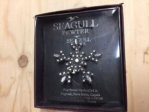 Seagull Pewter Snowflake Brooch