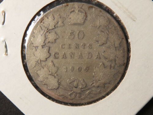 1909 Canada Fifty Cents with VG details