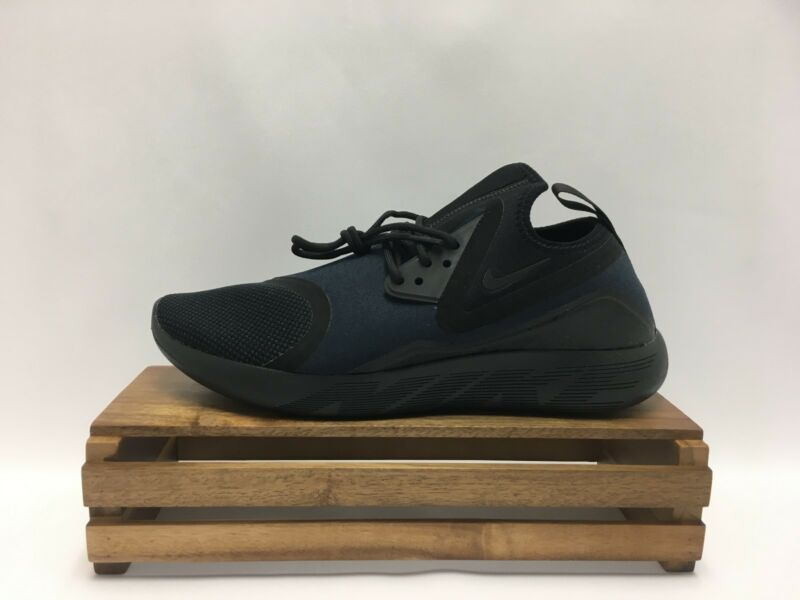 ... Nike Lunarcharge Essential Running Shoe Black Obsidian Blue 923619-007  Men's NEW ...