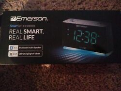New Bluetooth Emerson SmartSet LED Alarm FM Automatic Daylight Savings USB AUX
