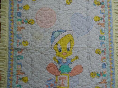 Vintage Tweety Bird Blanket Warner Bros 1988