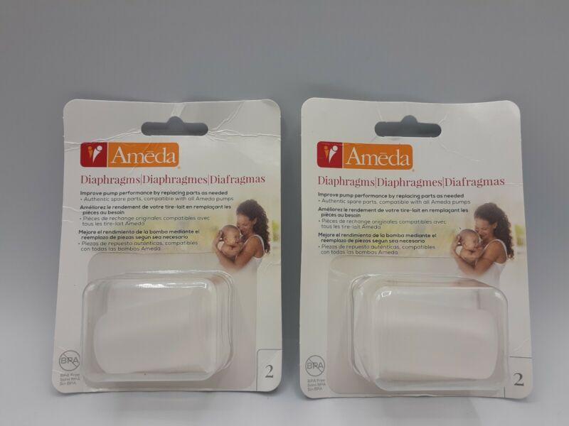 Lot of 2 packs Ameda Breast Pump Replacement Diaphragm 2-Packs 4 Total
