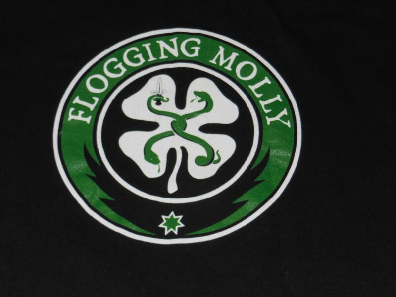 FLOGGING MOLLY SHIRT MENS SMALL S BLACK CINDER BLOCK