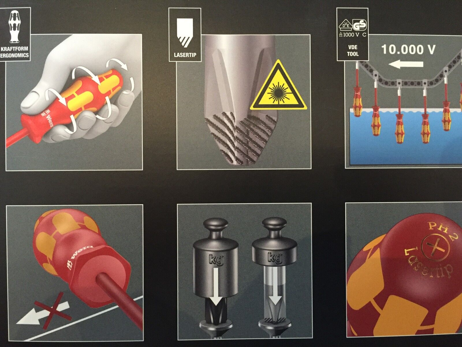 Wera Tools 10 000v Vde Electrical Screwdriver Set With