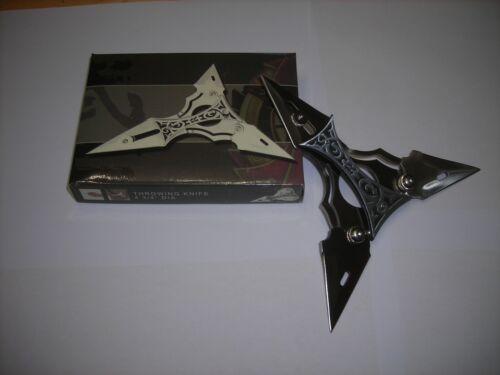 """Tri-point folding Knife with Sheath NIB 4.75"""" unfolded BIN 371"""