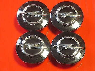 4 Nabenabdeckungen/Radkappen für Alufelgen von Opel in schwarz gebraucht kaufen  Oelsnitz