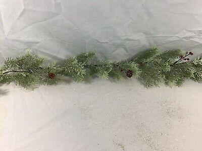 Ashland Christmas 6ft Garland Cedar Pine/berry/green Set Of 2 12ft Total