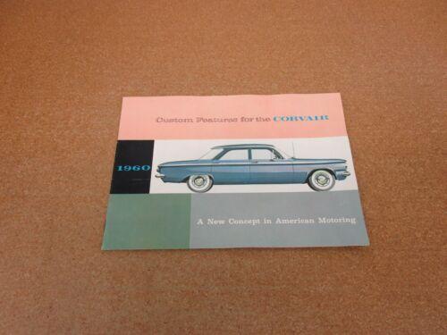ORIGINAL 1960 Chevrolet Corvair Options Accessories sales brochure literature