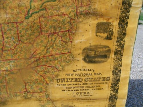 1857 MAP OF UNITED STATES