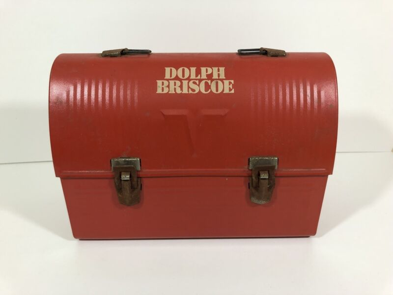 Vintage Dolph Briscoe Metal Thermos Lunchbox Texas