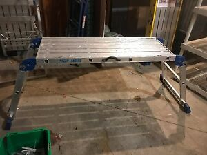 Portable Work Deck.  Aluminum 48x18x26.5