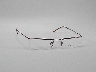 Eyeglass Frames Glasses Half-Rim Men Women Metal Brown wine design lightweight - Eyeglass Frame Brown Half Rim