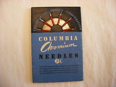 Phonograph Victrola Gramophone Needle Tin & Packets - Columbia Chromium #70