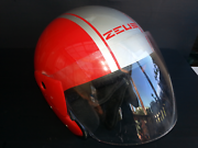 Small sized Red silver half faced motorcycle helmet. Launceston Launceston Area Preview
