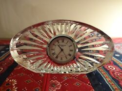 Waterford Crystal Small Oval Clock