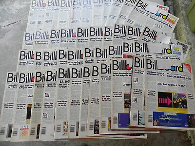1988  BILLBOARD Magazine Lot of 42 Weeks you get 42 Magazines all have label