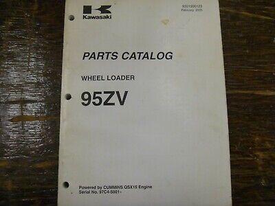 Kawasaki 95zv Wheel Loader Factory Parts Catalog Manual