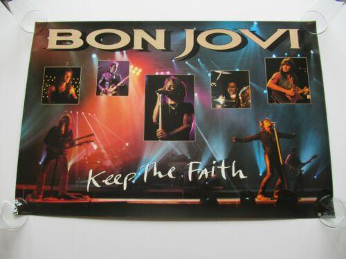 VINTAGE 1993 BON JOVI KEEP THE FAITH PROMO 36x24 2-SIDED POSTER JON RICHIE