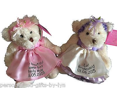 Personalised Bridesmaid - Flower Girl Teddy Bear Gift ()