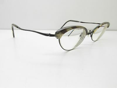 Duo Paris New York D-2014 EYEGLASSES FRAMES 50-19-135 Black Cat Eye 12657