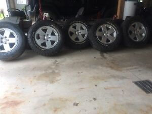 9 Tires and 5 jeep jk rims