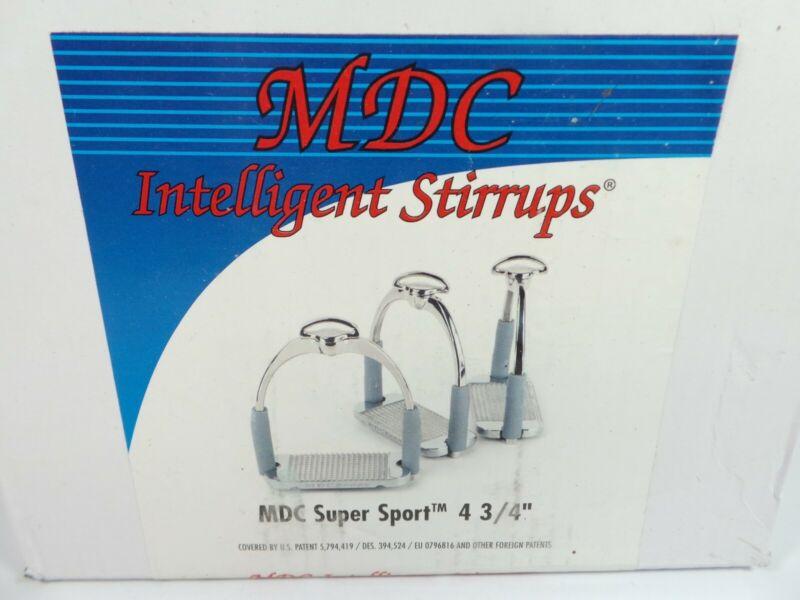 MDC Super Sport Flex Stirrups 4 3/4 4.75 Pair NEW, Open Box