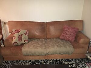 Used leather couch - 3 seater Mosman Mosman Area Preview